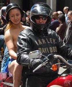 Boobs on Bikes Parade